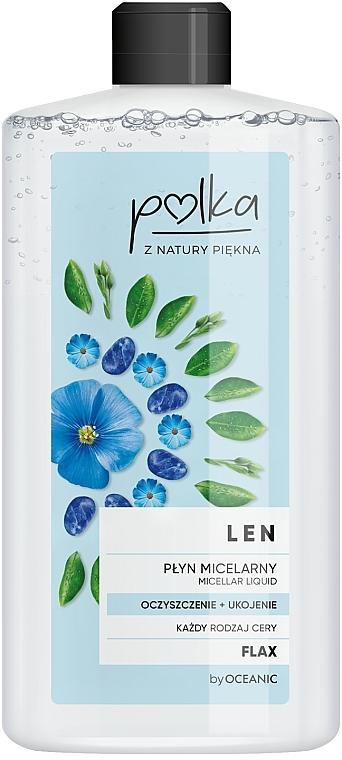 Mizellen Reinigungslotion mit Lein - Polka Micellar Water