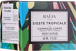 Düfte, Parfümerie und Kosmetik Körperpeeling mit Zuckergranulat, Traubenkernen, Orangenblütenwasser und Petitgrain- und Zederduft - Baija Sieste Tropicale Body Scrub