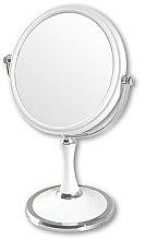 Düfte, Parfümerie und Kosmetik Doppelseitiger Kosmetikspiegel mit Ständer 85642 weiß - Top Choice