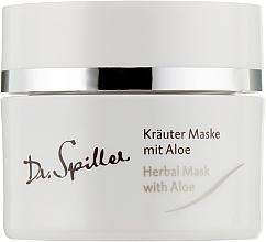 Düfte, Parfümerie und Kosmetik Kräutermaske für das Gesicht mit Aloe Vera - Dr. Spiller Intense Herbal Mask With Aloe