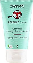 Düfte, Parfümerie und Kosmetik Gesichtspeeling mit AHA-Säuren für die T-Zone - Floslek Balance T-Zone Gommage Peeling With AHA Acids