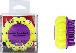 Düfte, Parfümerie und Kosmetik Kompakte Haarbürste Kamille gelb-lila - Rolling Hills Brosse Desenredar Flower