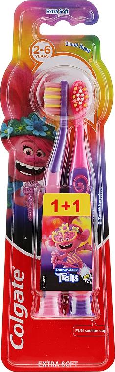 Kinderzahnbürste extra weich 2-6 Jahre Smiles violett, rosa 2 St. - Colgate Smiles Kids — Bild N1