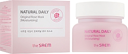 Düfte, Parfümerie und Kosmetik Feuchtigkeitsspendende Gesichtsmaske mit Rosenwasser - The Saem Natural Daily Original Rose Mask