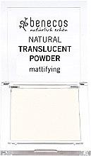 Düfte, Parfümerie und Kosmetik Transparenter mattierender Puder - Benecos Natural Translucent Powder Mission Invisible