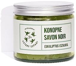 Düfte, Parfümerie und Kosmetik Naturseife Salbei & Eukalyptus - Cztery Szpaki Savon Noir Soap
