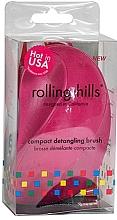 Düfte, Parfümerie und Kosmetik Kompakte Haarbürste Fuchsie - Rolling Hills Compact Detangling Brush Fuschia