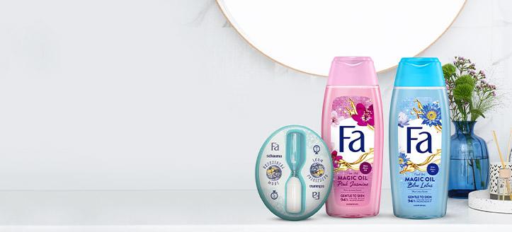 Beim Kauf von Fa-Aktionsprodukten ab CHF 5 erhalten Sie eine Sanduhr zum Duschen geschenkt