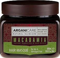 Düfte, Parfümerie und Kosmetik Pflegende und regenerierende Haarmaske mit Macadamia- und Arganöl - Arganicare Silk Macadamia Hair Mask