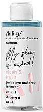 Düfte, Parfümerie und Kosmetik Sanfter Augen-Make-up Entferner mit Vitamin E für alle Hauttypen - Kili·g Woman Gentle Eye Make-Up Remover