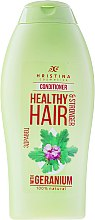 Düfte, Parfümerie und Kosmetik Haarspülung mit Geranienextrakt für kräftiges Haar - Hristina Cosmetics Healthy Hair Conditioner