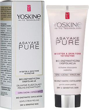 Enzym-Gesichtspeeling für trockene und empfindliche Haut - Yoskine Asayake Pure Bio Enzym Peeling