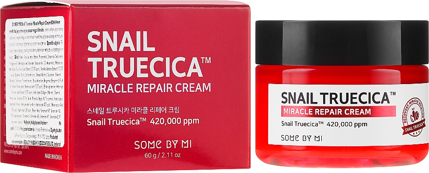 Revitalisierende Gesichtscreme mit Schneckenmucinextrakt und Ceramiden - Some By Mi Snail Truecica Miracle Repair Cream
