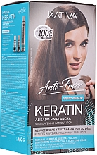 Düfte, Parfümerie und Kosmetik Haarpflegeset - Kativa Anti-Frizz Straightening Without Iron Xpert Repair (Haarmaske 150ml + Shampoo 30ml + Conditioner 30ml)