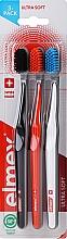 Düfte, Parfümerie und Kosmetik Zahnbürste ultra weich Swiss Made schwarz, weiß, orange 3 St. - Elmex Swiss Made