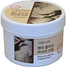 Düfte, Parfümerie und Kosmetik Massagecreme mit braunem Reis - Lebelage Brown Rice Cleaning Massage Cream
