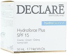Düfte, Parfümerie und Kosmetik Feuchtigkeitsspendende und pflegende Gesichtscreme SPF 15 - Declare Hydroforce Plus SPF 15 Cream