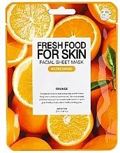 Düfte, Parfümerie und Kosmetik Aufhellende feuchtigkeitsspendende und erfrischende Tuchmaske mit Orangenextrakt für alle Hauttypen - Superfood For Skin Facial Sheet Mask Orange Refreshing