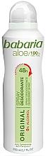 Düfte, Parfümerie und Kosmetik Deospray - Babaria Aloe Vera Original Alcohol-Free Deodorant Spray