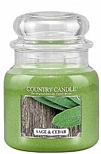 Düfte, Parfümerie und Kosmetik Duftkerze Salbei & Zeder - Country Candle Sage and Cedar