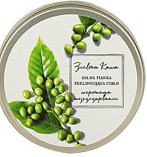 Düfte, Parfümerie und Kosmetik Schäumendes Salz-Körperpeeling mit grünem Kaffee - The Secret Soap Store