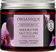 Düfte, Parfümerie und Kosmetik Salzpeeling für den Körper mit Sheabutter und schwarzem Orchideenduft - Organique Shea Butter Salt Peeling Black Orchid