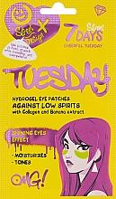 Düfte, Parfümerie und Kosmetik Hydrogel-Augenpatches mit Kollagen und Bananenextrakt - 7 Days Cheerful Tuesday Hydrogel Eye Patches