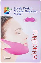 Düfte, Parfümerie und Kosmetik Modellierende korrigierende und straffende Maske für die Gesichtskonturen und das Doppelkinn mit Kollagen - Purederm Lovely Design Miracle Shape-up V-line Mask