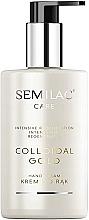 Düfte, Parfümerie und Kosmetik Regenerierende Handcreme mit kolloidalem Gold - Semilac Colloidal Gold Hand Cream