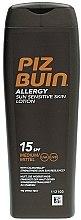 Düfte, Parfümerie und Kosmetik Sonnenschützende Körperlotion für allergische und empfindliche Haut SPF15 - Piz Buin Allergy Sun Sensitive Skin Lotion SPF15
