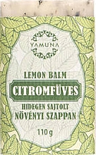 Düfte, Parfümerie und Kosmetik Mydło tłoczone na zimno Trawa cytrynowa - Yamuna Lemon Balm Cold Pressed Soap