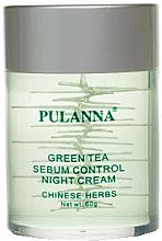 Düfte, Parfümerie und Kosmetik Nachtcreme für das Gesicht mit grünem Tee - Pulanna Green Tea Sebum Control Night Cream