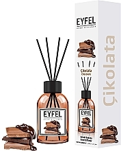 """Düfte, Parfümerie und Kosmetik Aromadiffusor mit Duftholzstäbchen """"Schokolade"""" - Eyfel Perfume Reed Diffuser Chocolate"""