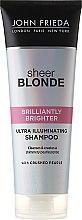 Düfte, Parfümerie und Kosmetik Shampoo zum Beleben von blonder Haarfarbe mit perlmutternem Glanz - John Frieda Sheer Blonde Brilliantly Brighter Shampoo
