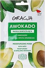 Düfte, Parfümerie und Kosmetik Feuchtigkeitsspendende Tuchmaske mit Avocadoöl - Gracja Moisturizing Mask
