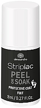 Düfte, Parfümerie und Kosmetik Nagellack  - Alessandro International Striplac Peel or Soak Protective Coat Feet