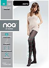 Düfte, Parfümerie und Kosmetik Figurformende Kompressionsstrumfhose gegen Cellulute mit Massageeffekt Masumi 40 Den nero - Knittex