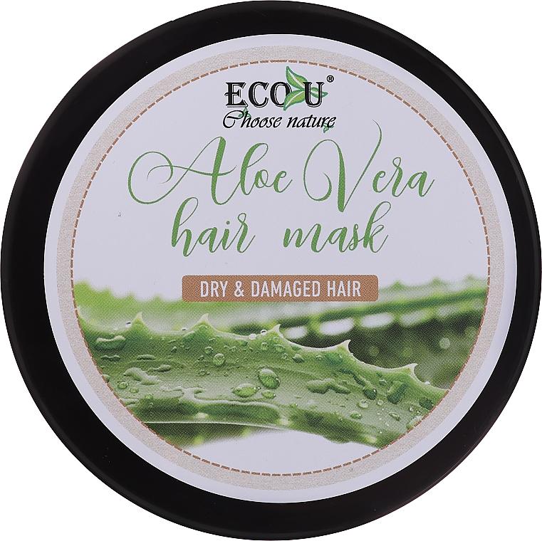 Haarmaske mit Aloe Vera für trockenes und strapaziertes Haar - Eco U Aloe Mask