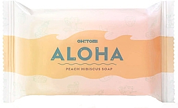 Düfte, Parfümerie und Kosmetik Handgemachte Naturseife mit Pfirsich und Hibiskus - Oh!Tomi Aloha Peach Hibiscus Soap