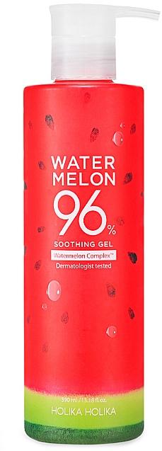 Beruhigendes und feuchtigkeitsspendendes Körper- und Gesichtsgel mit Wassermelonenextrakt - Holika Holika Watermelon 96% Soothing Gel