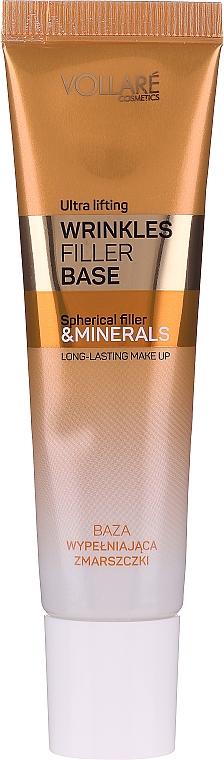 Glättende und verjüngende Make-up Base mit Mineralien gegen Falten und Mimikfalten - Vollare Cosmetics Wrinkles Filler Base