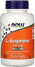Düfte, Parfümerie und Kosmetik Nahrungsergänzungsmittel Aminosäure L-Arginin 500 mg in Kapselform - Now Foods L-Arginine Veg Capsules
