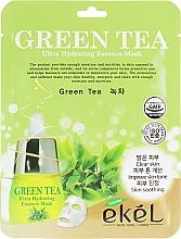 Düfte, Parfümerie und Kosmetik Feuchtigkeitsspnedende Tuchmaske mit Grüntee-Extrakt - Ekel Green Tea Ultra Hydrating Essence Mask