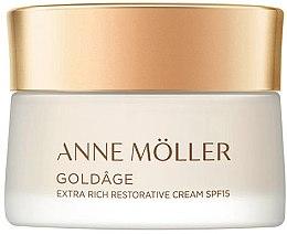 Düfte, Parfümerie und Kosmetik Extra reichhaltige regenerierende Gesichtscreme - Anne Moller Goldage Extra Rich Restorative Cream SPF15