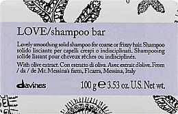 Düfte, Parfümerie und Kosmetik Glättendes Shampoo für welliges Haar - Davines Essential Haircare Love Smooth Shampoo Bar