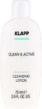 Düfte, Parfümerie und Kosmetik Sanfte Gesichtsreinigungslotion für normale und trockene Haut - Klapp Clean & Active Cleansing Lotion