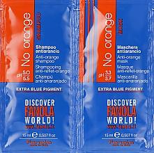 Düfte, Parfümerie und Kosmetik Haarpflegeset - Fanola No Orange (Shampoo Probe 15ml + Haarmaske Probe 15ml)