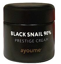 Düfte, Parfümerie und Kosmetik Hautverfeinernde Gesichtscreme mit schwarzem Schneckenfiltrat - Ayoume Black Snail Prestige Cream