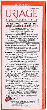 Wasserfeste Sonnenschutzcreme für empfindliche Haut SPF 50+ Parfümfrei - Uriage Suncare product Fragrance Free — Bild N5