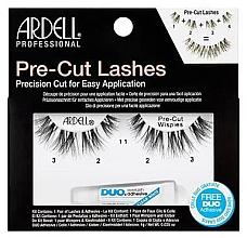 Düfte, Parfümerie und Kosmetik Künstliche Wimpern mit Wimpernkleber - Ardell Pre-Cut Demi Wipies Lashes